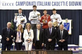 Al Campionato italiano cadetti schermidori pugliesi medaglie d'argento