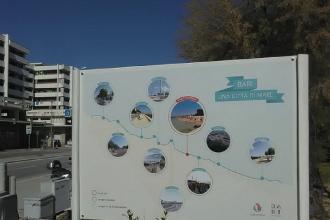 Un cartello per raccontare la Città di mare e i lavori da eseguire