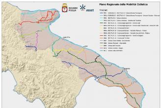Stabilite le 16 ciclovie per la mobilità ciclistica in Puglia
