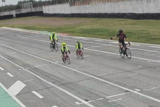 Iniziati gli allenamenti per i ciclisti all'Autodromo del Levante