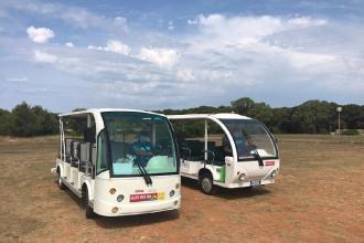 Riattivato servizio di minibus elettrici alla baia di Portoselvaggio