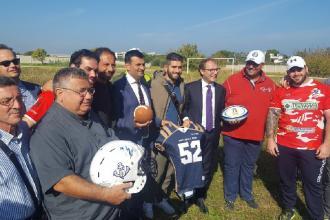 Sorgerà a Catino il primo stadio per il rugby ed il football americano