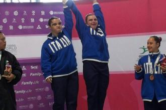L'atleta foggiana Martina Sassani ai campionati mondiali di sincro