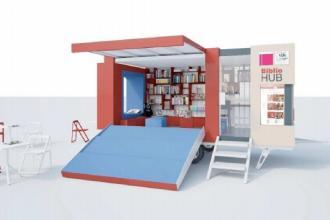 E' arrivato il Bibliobus di Bibliohub per le biblioteche in periferia