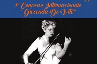 """Al via il primo concorso di musica """"Gioconda De Vito"""""""