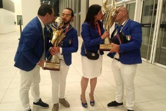 Il sindaco premia i vincitori del Campionato mondiale di Acconciatura