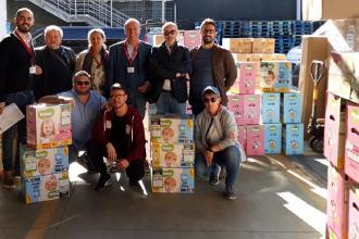 """Pannolini donati alla rete """"Oltre"""" per le famiglie in difficoltà"""