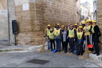 Ospiti dello Sprar hanno partecipato all'inizitiva di Legambiente