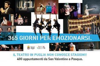 Spettacoli in teatro da San Valentino a Pasqua in tutta la Puglia