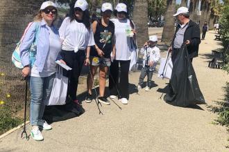 Una rappresentanza di cittadini ha ripulito la spiaggia di Ponente