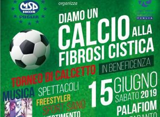 Calcio, musica e spettacolo al Palafiom contro la fibrosi cistica