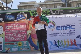 Corre a 80 anni e arriva secondo ai master europei di corsa su strada