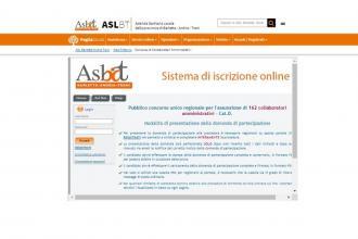 L'Asl Bt gestisce il concorso per 162 collaboratori amministrativi