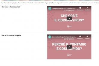 Coronavirus, dieci domande e risposte-video del prof. Lopalco