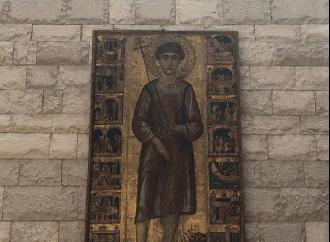 L'effige di San Nicola il Pellegrino esposto nel Polo Museale