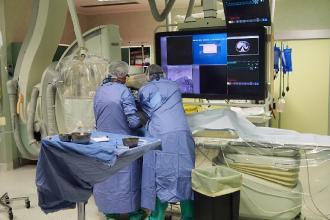 Eccezionale intervento di radiologia interventistica