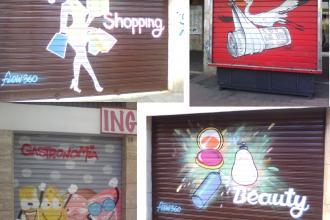 Si diffonde l'arte di dipingere le saracinesche dei negozi